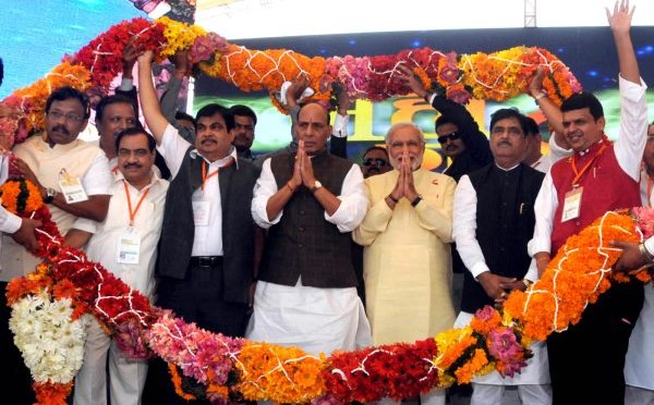 Shri Rajnath Singh addressing Mahagarjana rally in Mumbai (22/12/13)