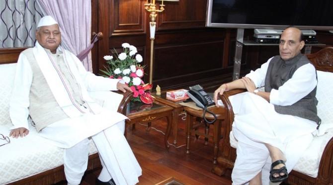 Meeting with Shri Ram Naresh Yadav, The Governor of Madhya Pradesh (20/08/2014)