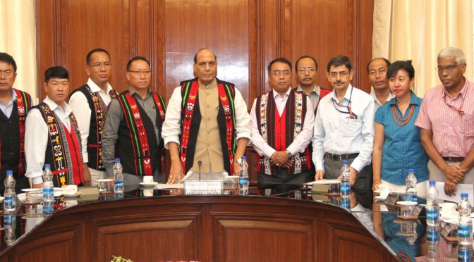 A delegation of Naga people from Manipur representing the