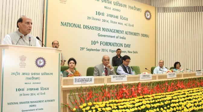 Shri Rajnath Singh inaugurates the 10th   Formation Day of NDMA September 29, 2014.