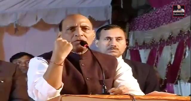 Shri Rajnath Singh addresses Public meeting at Ghonda in Delhi (03-02-2015)
