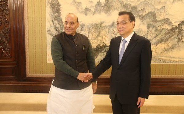 HM Sri Rajnath Singh met with China's Premier Mr. Li Keqiang in Beijing.