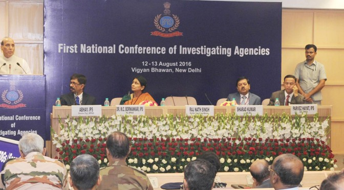 Shri Rajnath Singh inaugurates the first National Conference of investigating agencies