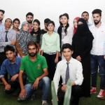 A group of students from Jammu and Kashmir studying in other states, in a group photograph at the residence of the Union Home Minister, Shri Rajnath Singh, in New Delhi on September 08, 2016.