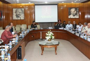 The Union Home Minister, Shri Rajnath Singh chairing an All-Party Meeting, DGMO briefed the meeting on Surgical Strikes by the Indian Army at launch pads along LoC, in New Delhi on September 29, 2016.
