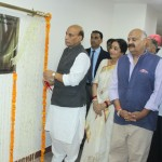 The Union Home Minister, Shri Rajnath Singh inaugurating the E-Block of GMCH- 32, in Chandigarh on September 09, 2016. The Governor of Punjab and Administrator of Chandigarh, Shri V.P. Singh Badnore, the Member of Parliament, Smt. Kirron Kher and other officers are also seen.