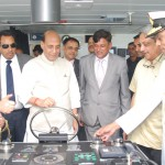 The Union Home Minister, Shri Rajnath Singh and the Union Minister for Defence, Shri Manohar Parrikar commissioning the Indian Coast Guard Ship 'Sarathi', at Goa on September 09, 2016.  The DG, Indian Coast Guard and other senior officers are also seen.