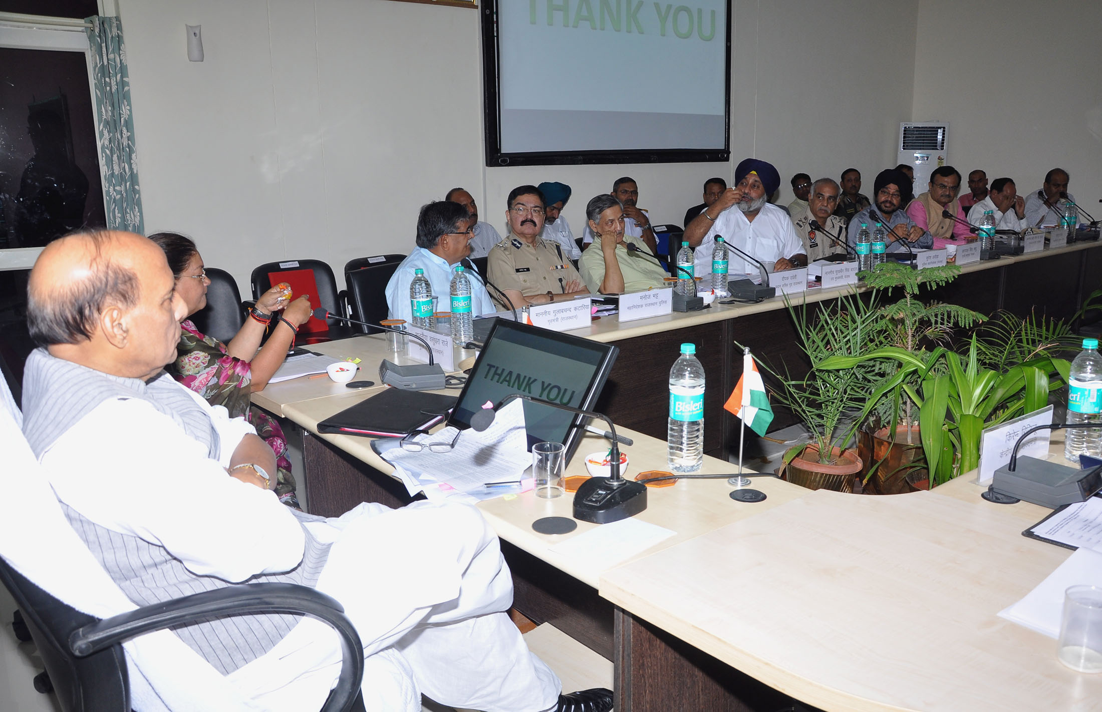 union home minister chairs meeting for sealing indo pak border in