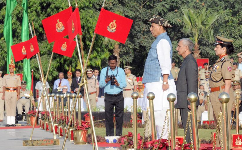 Union Home Minster Shri Rajnath Singh paid homage to the Police Martyrs on Police Commemoration Day