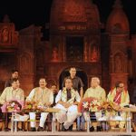 The Governor of Nagaland, Shri Padmanabha Balakrishna Acharya, Union Home Minister, Shri Rajnath Singh, the Minister of State for Culture and Tourism (Independent Charge), Dr. Mahesh Sharma and other dignitaries at the inauguration of the 2nd Rashtriya Sanskriti Mahotsav, in New Delhi on October 15, 2016.