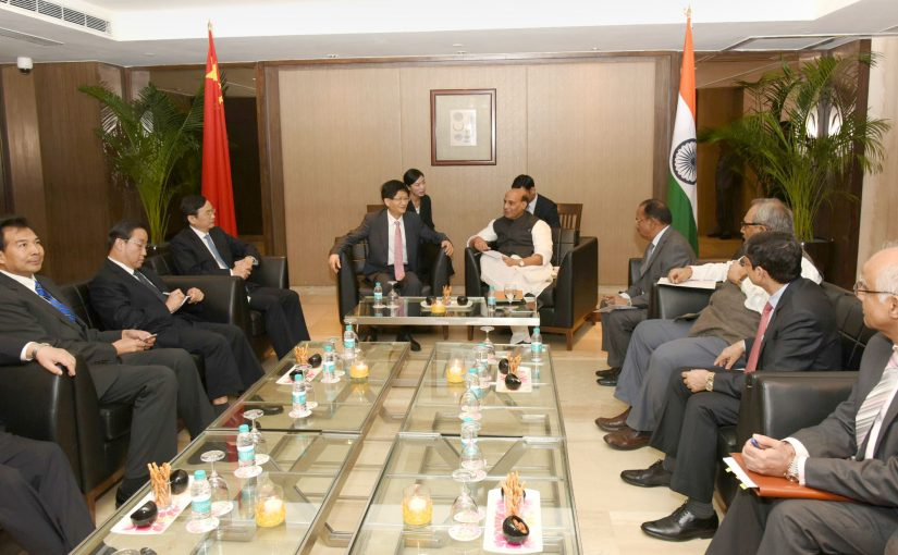 Union Home Minister Shri Rajnath Singh holds bilateral talks with Mr. Meng Jianzhu