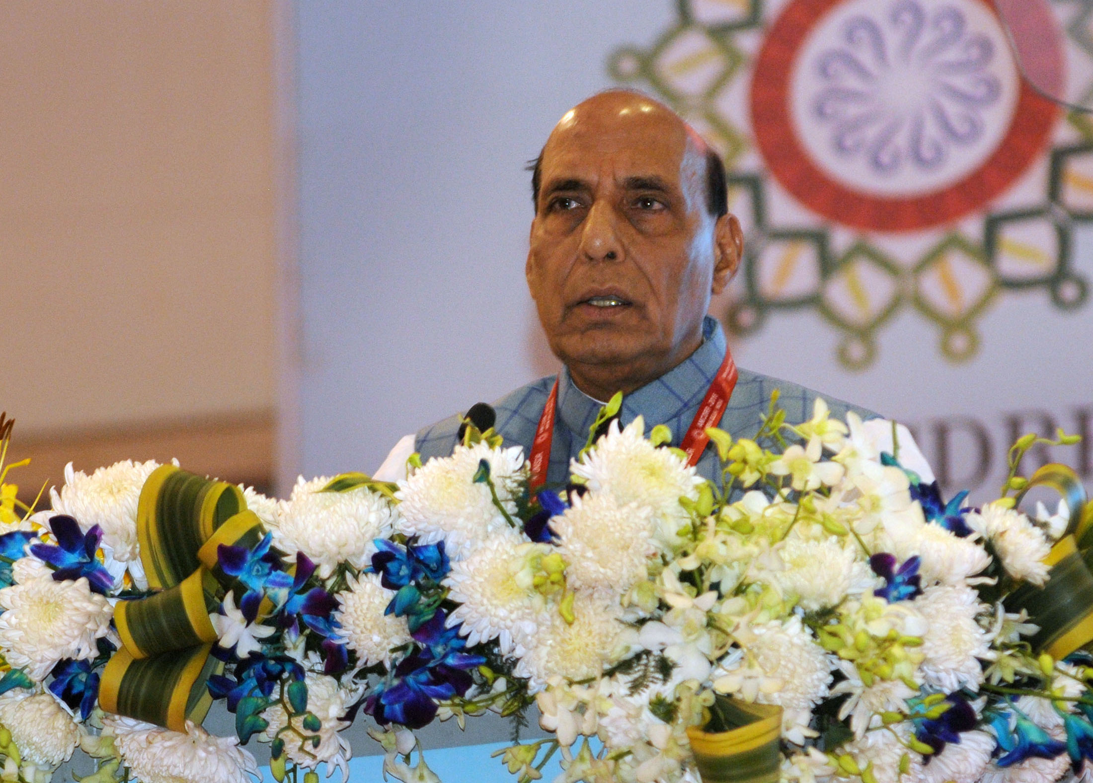 The Union Home Minister, Shri Rajnath Singh addressing at the Asian Ministerial Conference on Disaster Risk Reduction, in New Delhi on November 03, 2016.