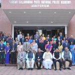 The Union Home Minister, Shri Rajnath Singh in a group photograph with the winners of Police Medals, during the All India Conference of DGPs/IGPs, 2016, at Sardar Vallabhbhai Patel National Police Academy, in Hyderabad on November 25, 2016. The Ministers of State for Home Affairs, Shri Kiren Rijiju & Shri Hansraj Gangaram Ahir, the Union Home Secretary Shri Rajiv Mehrishi and senior officers are also seen.