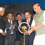 The Union Home Minister, Shri Rajnath Singh lighting the lamp to inaugurate the India International Science Festival 2016 (IISF-2016), organised by CSIR-NPL, in New Delhi on December 08, 2016. The Union Minister for Science & Technology and Earth Sciences, Dr. Harsh Vardhan, the Secretary, Department of Biotechnology, Dr. K. Vijayraghavan and the Secretary, Department of Science and Technology, Prof. Ashutosh Sharma are also seen.