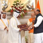 The Prime Minister, Shri Narendra Modi and the Prime Minister of Qatar, Sheikh Abdullah bin Nasser bin Khalifa Al Thani witnessing the exchange of agreements, at Hyderabad House, in New Delhi on December 03, 2016.
