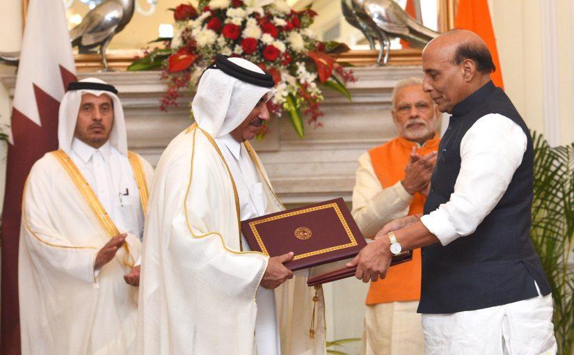 Union Home Minister Shri Rajnath Singh calls on Prime Minister of Qatar