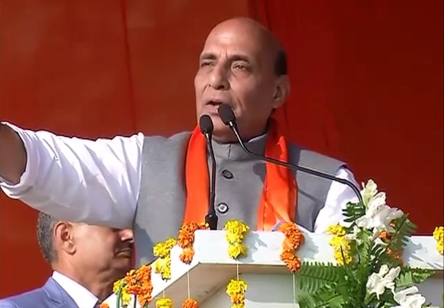 Shri Rajnath Singh addresses Parivartan Rally in Fatehpur, Uttar Pradesh