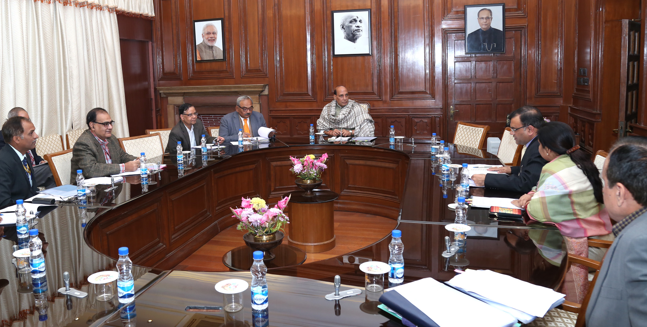 union home minister shri rajnath singh chairs high level committee