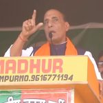 Rajnath Singh addressing rally in Kasta, Lakhimpur, UP