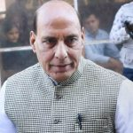 RPT...New Delhi: Home Minister  Rajnath Singh arrives at Parliament house in New Delhi on Monday during the ongoing winter session. PTI Photo by Subhav Shukla  (PTI11_28_2016_000118B)