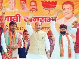 No polarisation speech as Rajnath Singh woos voters: Economic Times