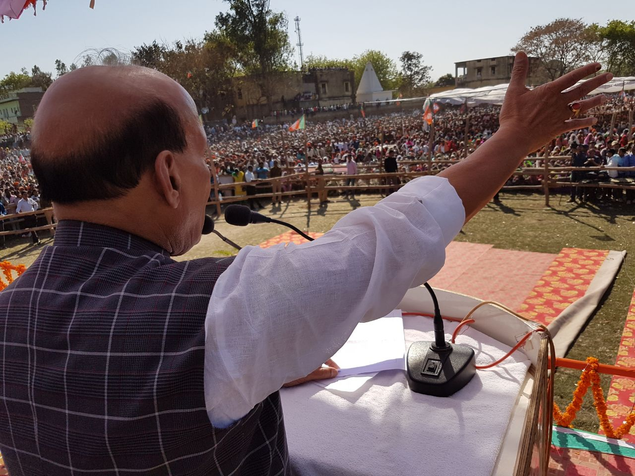 Rajnath Singh in Chakia, Chandauli