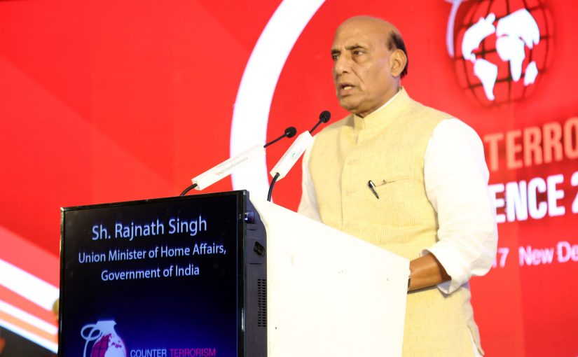 The Union Home Minister, Shri Rajnath Singh addresses Counter Terrorism Conference in New Delhi