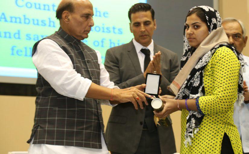 "Home Minister Shri Rajnath Singh inaugurates Web Portal ""Bharat ke Veer"""
