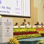 The Union Home Minister, Shri Rajnath Singh addressing at the inauguration of the two-day Civil Services Day 2017 function, in New Delhi on April 20, 2017. The Minister of State for Development of North Eastern Region (I/C), Prime Minister's Office, Personnel, Public Grievances & Pensions, Atomic Energy and Space, Dr. Jitendra Singh, the Cabinet Secretary, Shri P.K. Sinha, the Additional Principal Secretary to the Prime Minister, Dr. P.K. Mishra and other dignitaries are also seen.