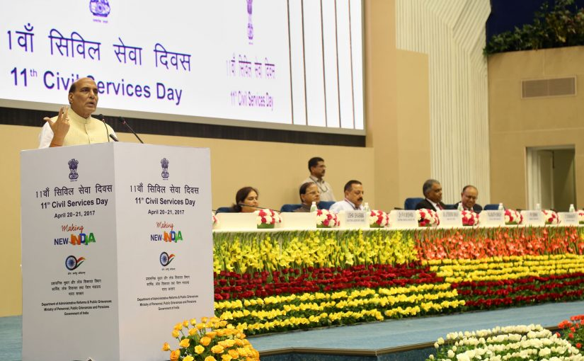 Responsibility, accountability and impartiality are most important aspects of Civil Services: Shri Rajnath Singh