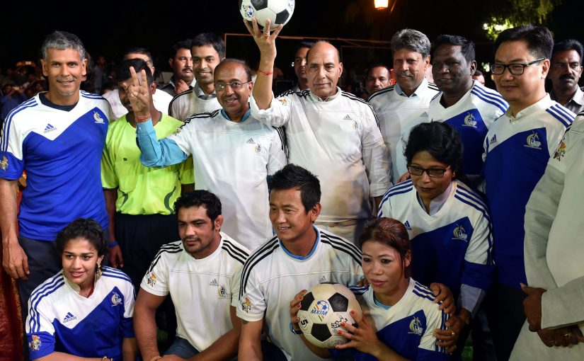 Home Minister Shri Rajnath Singh inaugurates the Curtain Raiser event 'Oorja', a U-19 Football Talent Hunt Tournament