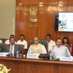 The Union Home Minister, Shri Rajnath Singh chairing the meeting on issues related to North East, in New Delhi on May 16, 2017.  The Minister of State for Development of North Eastern Region (I/C), Prime Minister's Office, Personnel, Public Grievances & Pensions, Atomic Energy and Space, Dr. Jitendra Singh, the Minister of State for Home Affairs, Shri Kiren Rijiju and the National Security Advisor, Shri Ajit Doval and other senior officers are also seen.