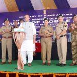 Shri Rajnath Singh launching the MHA Mobile Application (Grievances Redressal App for CAPFs)
