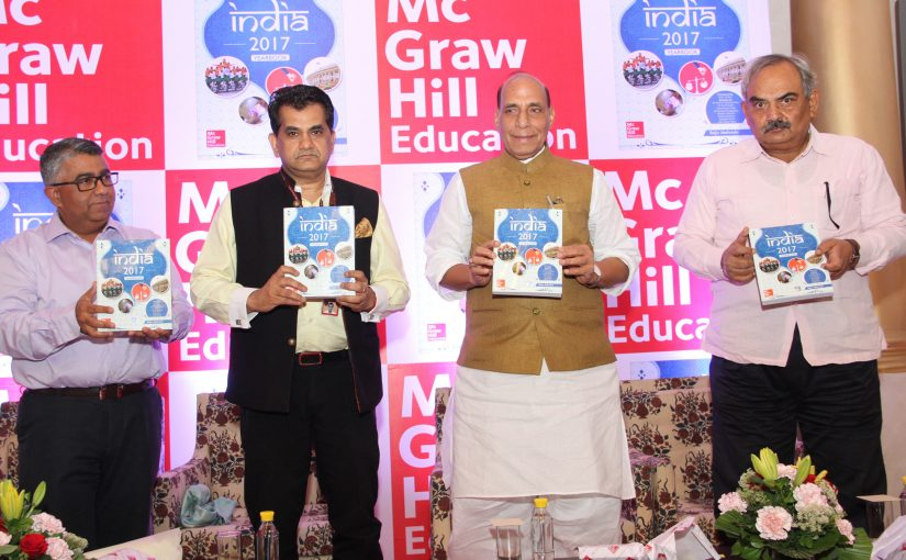 Union Home Minister Shri Rajnath Singh releases the book 'India 2017 Yearbook'
