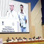 Shri Rajnath Singh speaking at the second meeting of the National Platform for Disaster Risk Reduction (NPDRR), in New Delhi