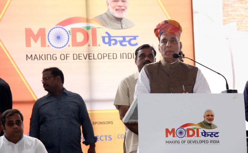 "Shri Rajnath Singh inaugurates ""Modi Fest"" programme in Jaipur, Rajasthan"