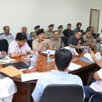 The Union Home Minister, Shri Rajnath Singh chairing a review meeting with the Directors-General (DGs) of Central Armed Police Forces (CAPFs), in New Delhi on August 03, 2017.  The Minister of State for Home Affairs, Shri Hansraj Gangaram Ahir and senior officers of MHA are also seen.