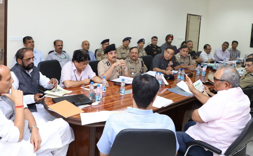 Home Minister Shri Rajnath Singh chairs review meeting with DGs of CAPFs