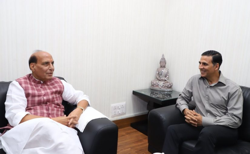 HM Shri Rajnath Singh lauded efforts of Akshay Kumar for Bharat Ke Veer