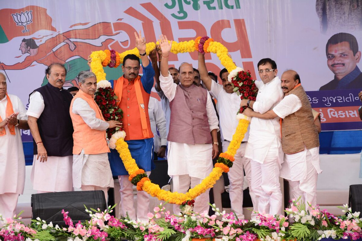 Rajnath Singh in Bardoli, Gujarat