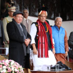 The Union Home Minister, Shri Rajnath Singh attending Hornbill festival, at Kisama Village, Kohima, in Nagaland on December 08,2017