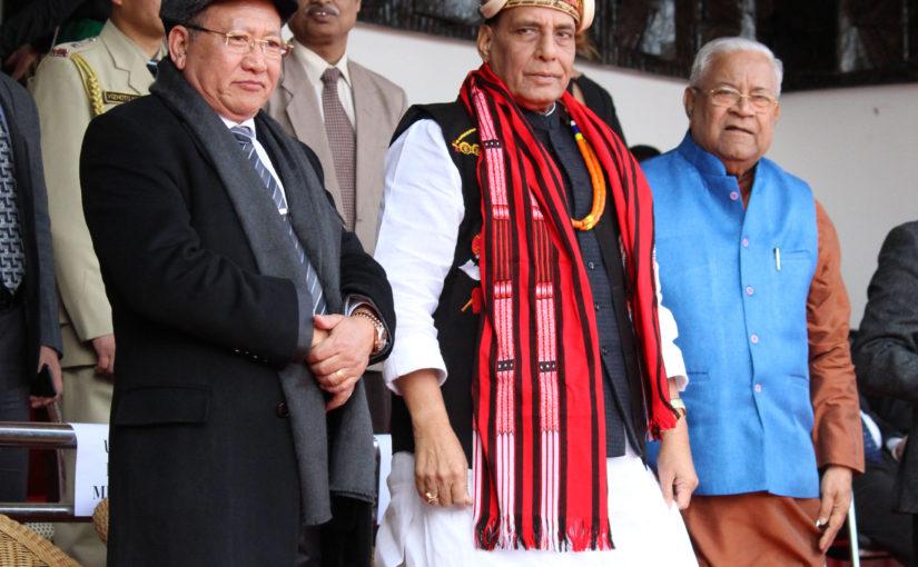 Home Minister Shri Rajnath Singh attends Hornbill Festival in Nagaland