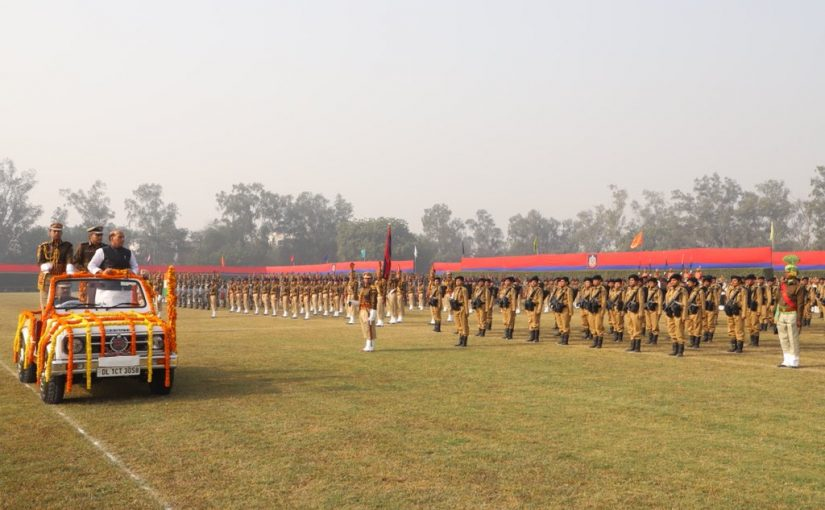 Union Home Minister Shri Rajnath Singh addresses the 71st Raising Day Parade of Delhi Police