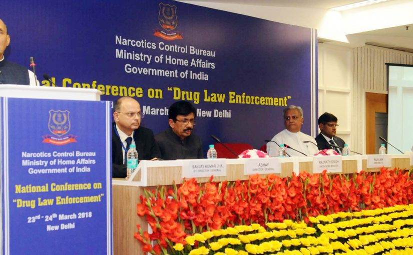 Shri Rajnath Singh addresses the closing ceremony of National Conference on Drug Law Enforcement