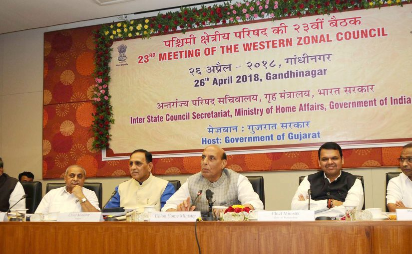 Shri Rajnath Singh chairs 23rd meeting of Western Zonal Council at Gandhinagar
