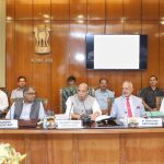 The Union Home Minister, Shri Rajnath Singh reviews the progress of development projects at the third meeting of Island Development Agency (IDA), in New Delhi on April 24, 2018. The Cabinet Secretary, Shri P.K. Sinha, the CEO, NITI Aayog, Shri Amitabh Kant, the Lt. Governor of Andaman & Nicobar Islands, Admiral (Retd), D.K. Joshi, the Union Home Secretary, Shri Rajiv Gauba and the senior officials of Union Ministries and UTs are also seen.
