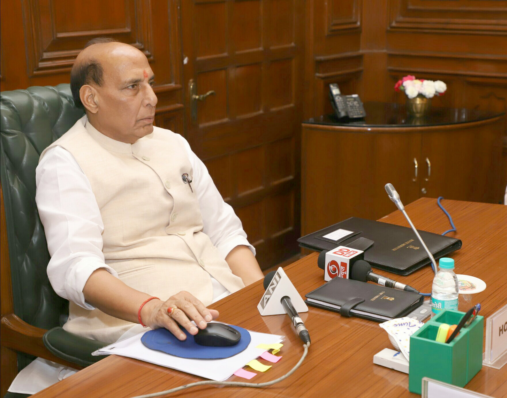 The Union Home Minister, Shri Rajnath Singh launching an Online Analytical Tool to monitor flow of foreign contributions under FCRA, in New Delhi on June 01, 2018.