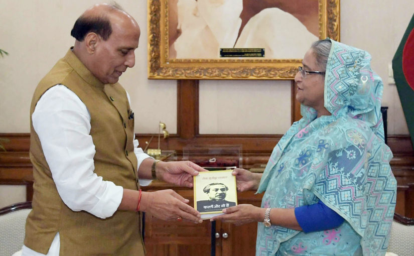 Union Home Minister Shri Rajnath Singh holds talks with Bangladesh PM Ms. Sheikh Hasina in Dhaka