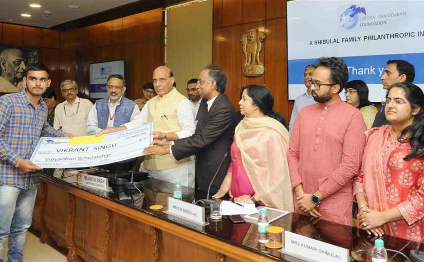 Shri Rajnath Singh distributes scholarship cheques to children of martyred CAPFs personnel