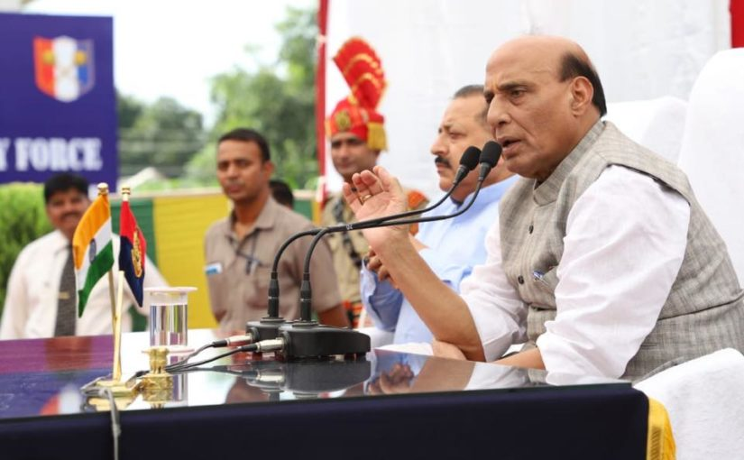 Shri Rajnath Singh inaugurates smart fencing project along International Border in J&K